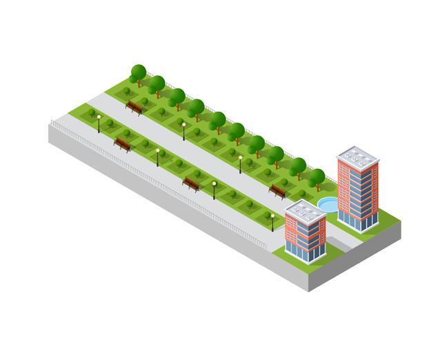 illustration av en modern stad vektor