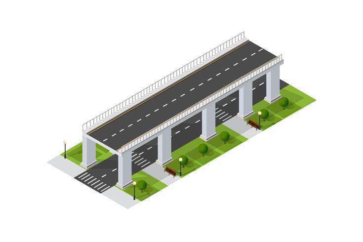 Broväggen av stadsinfrastruktur är vektor