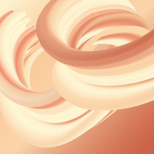 Flüssiger Fluss abstrakter Entwurf vektor