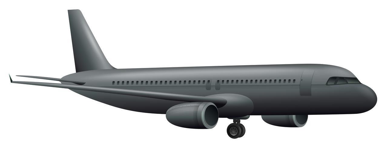 Ein großes Flugzeug auf weißem Hintergrund vektor