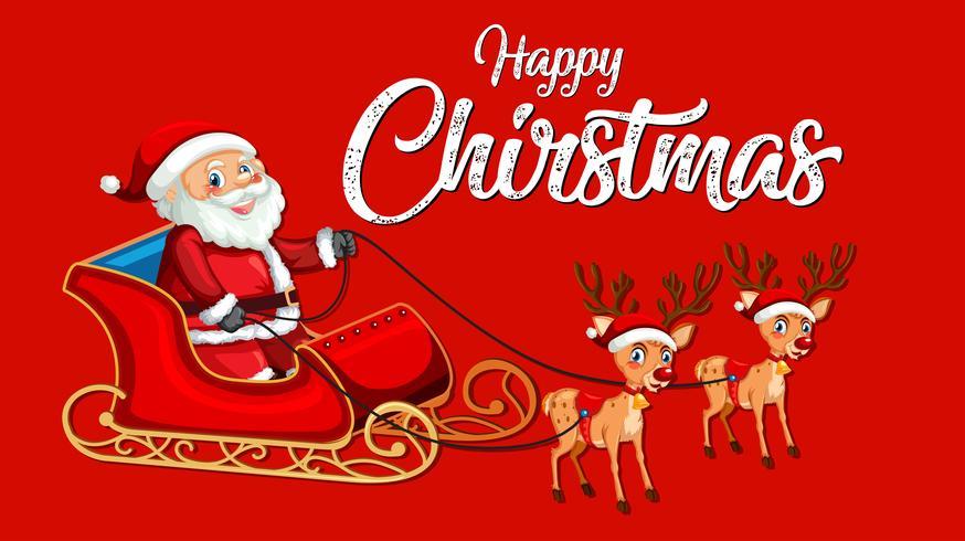 Rote glückliche Weihnachtsschablone vektor