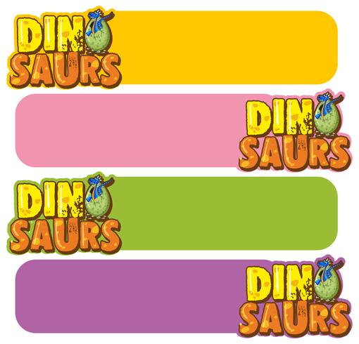 Banner Vorlage mit Dinosauriern Eiern vektor