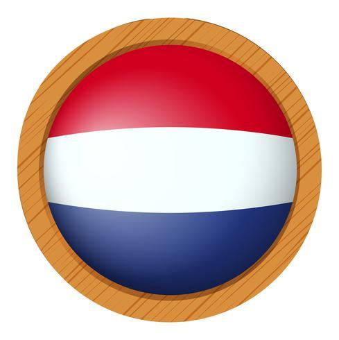 Abzeichen Design für die niederländische Flagge vektor