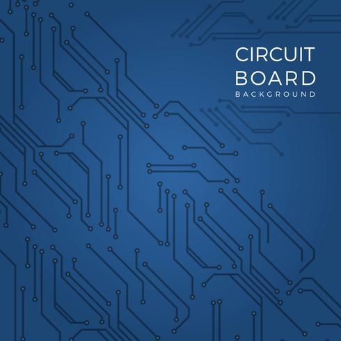 Flat Modern Blue Printed Circuit Board Vector Bakgrund
