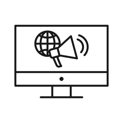 internet marknadsföring seo linje ikon vektor
