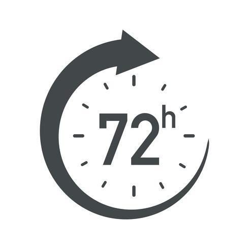 72h-Symbol. vektor