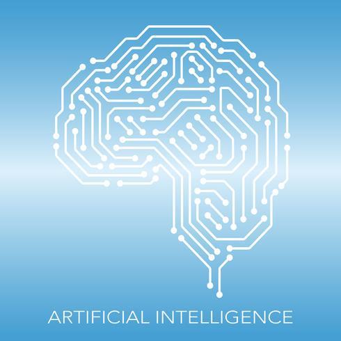 Konzeptillustration der künstlichen Intelligenz. vektor