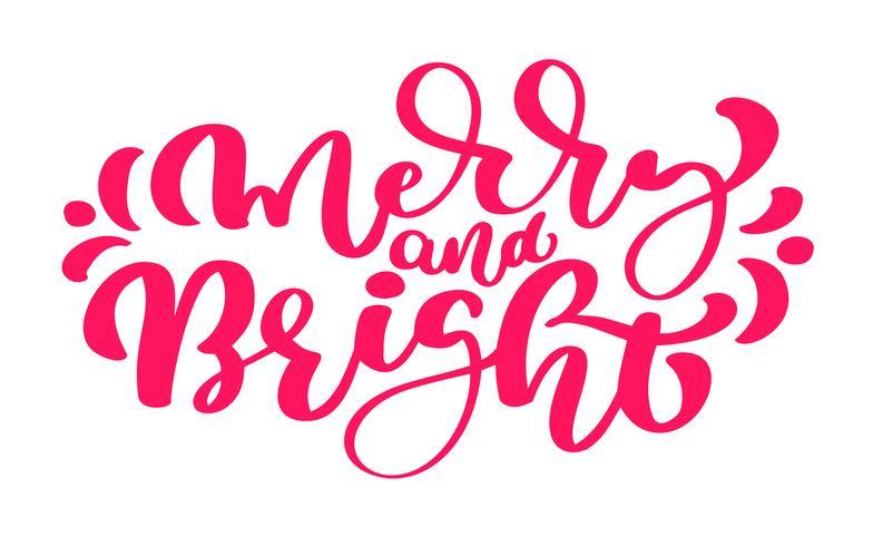 God och ljus. Handritad vinterferie säger. Julbokstäver och kalligrafi med dekorativa designelement. För hälsningskort, affisch eller tryck vektor