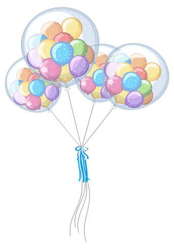 Lite ballonger i fyra stora vektor