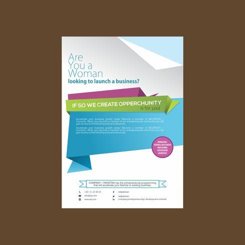 Designmall för företags modern broschyr vektor
