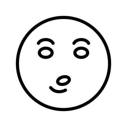 whistle emoji vektorikonen vektor