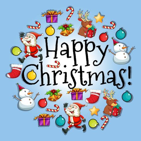Affischdesign med jul tema vektor