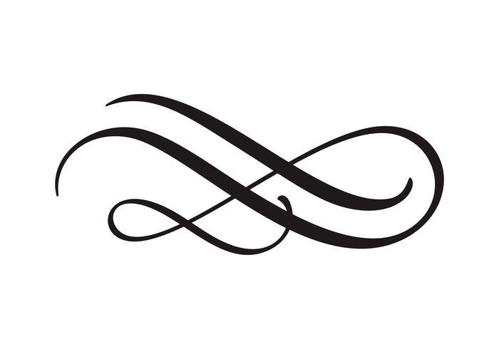 Weinleselinie eleganter Teiler oder Trennzeichen vektor