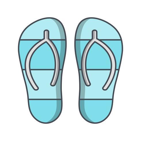 Hausschuhe-Vektor-Symbol vektor