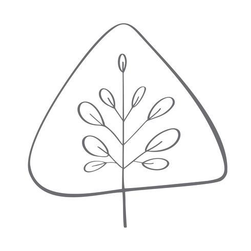Julgran vektor ikon silhuett. Enkel kontur symbol. Isolerat på vit webbskylt kit av stiliserad gran. Handdraw skandinavisk tecknad film