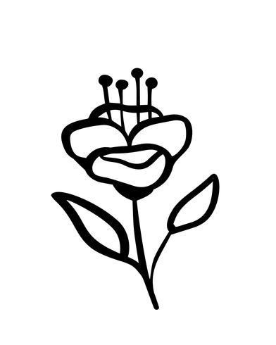 Hand skisserade vektor vintage blommiga element - laureller lämnar blomma virvlar och fjädrar. Vild och fri. Perfekt för inbjudningar hälsningskort, citatbloggar bröllopsramar, affischer