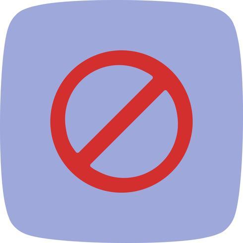 Verbotene Vektor-Symbol vektor