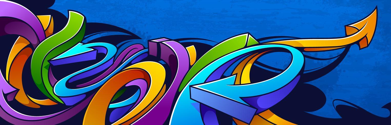 Horisontell graffiti banner vektor