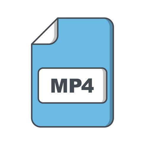 MP4-Vektor-Symbol vektor