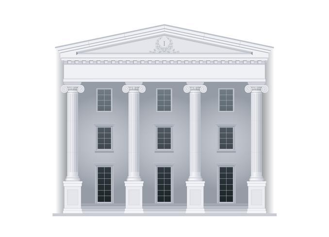 Courthouse eller institution vektor