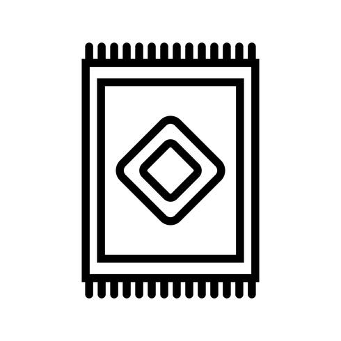 Teppich-Vektor-Symbol vektor