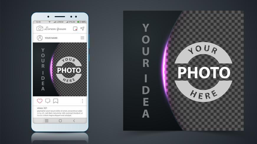 Social Media, Instagram Post Vorlage. vektor