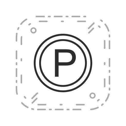 Vektor-Parkplatz-Symbol vektor