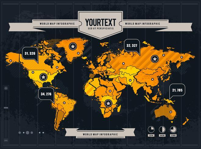 Vektor världskarta