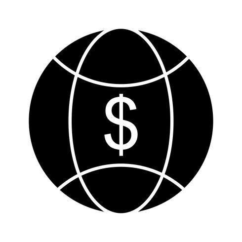 Weltgeld-Vektor-Symbol vektor