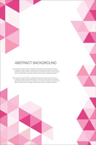 Abstrakt geometrisk design bakgrundsmall vektor