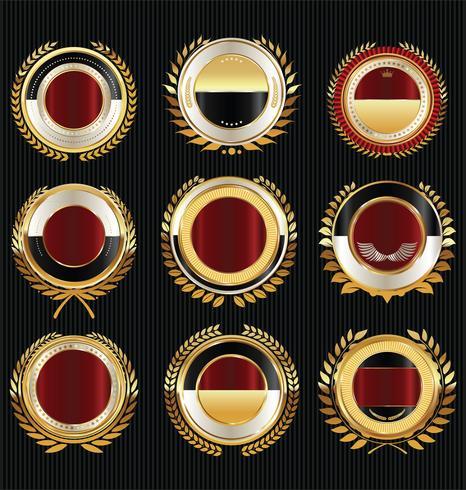 Goldener Verkauf beschriftet Retro- Weinleseauslegungssammlung vektor