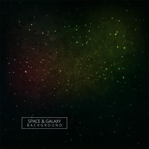 Sterne eines Planeten und der Galaxie in einem bunten Hintergrund des freien Raumes vektor