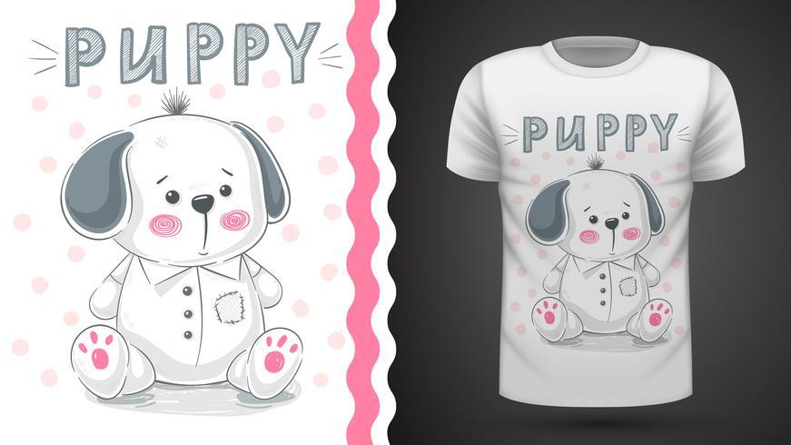 Hund, Welpe - Idee für Druckt-shirt vektor