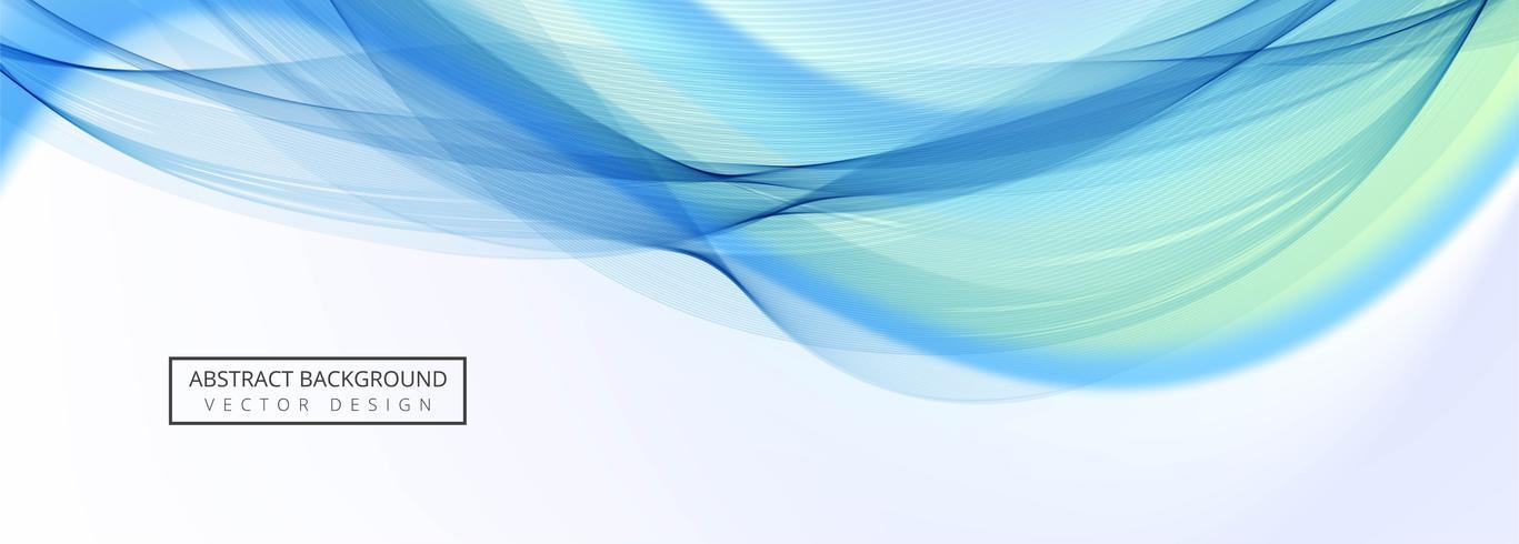 Schönes stilvolles Wellenschablonen-Fahnendesign vektor