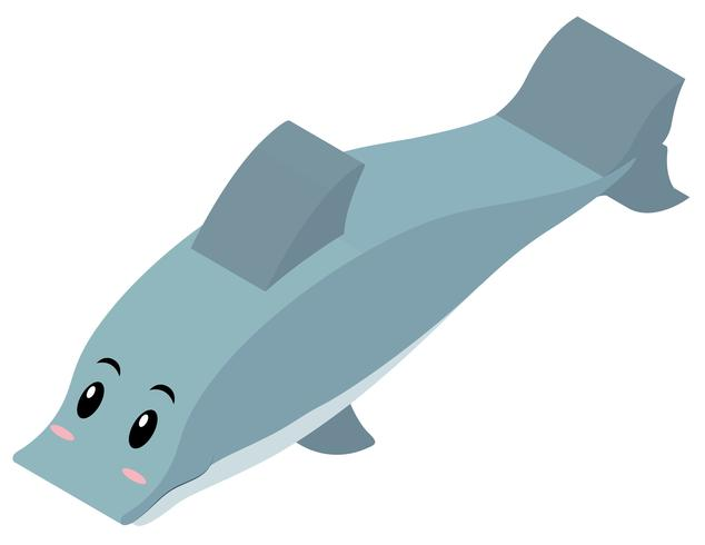 3D-Design für Delphin vektor