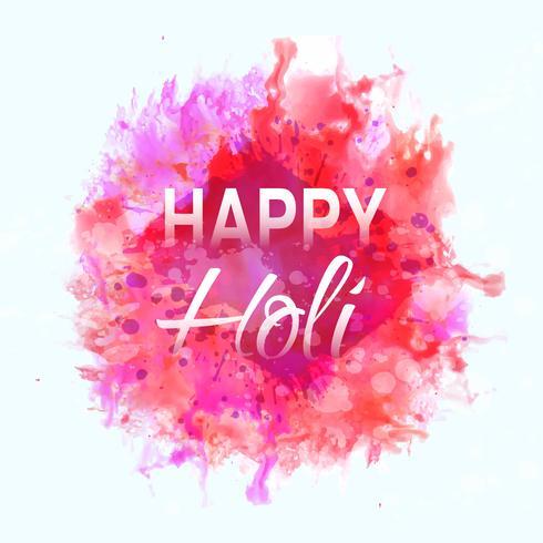 Happy Holi Feier Indian Festival der Farben vektor