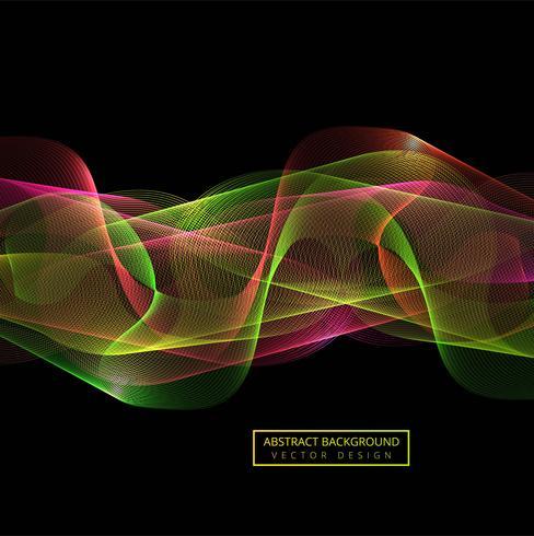 Abstrakter bunter Rauchwellenhintergrund vektor