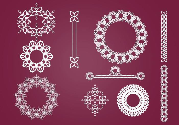 Kränze, Rahmen und Ornamente Vector Pack