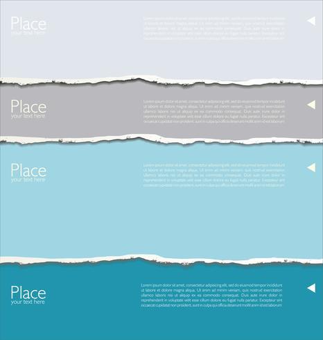 zerrissenes Papier vektor
