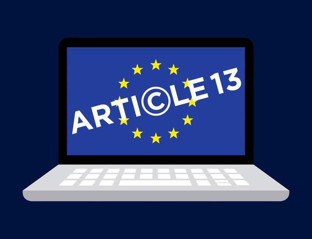 Artikel 13 illustration. vektor