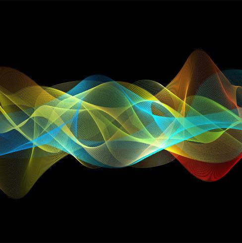 Schönes stilvolles buntes flüssiges Wellendesign vektor
