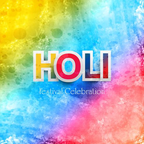 Holi bunt feiern Festivalhintergrund vektor