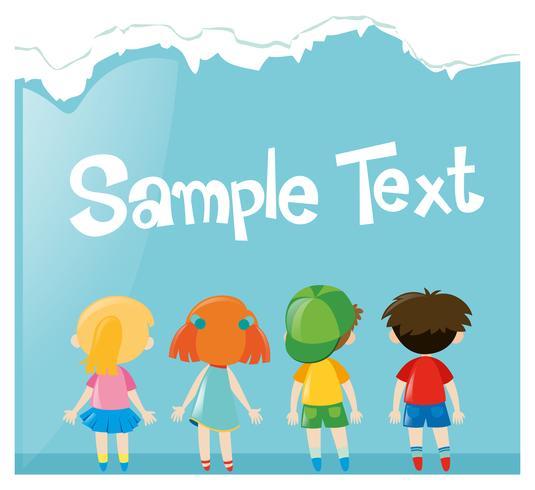 Pappersdesign med många barn vektor