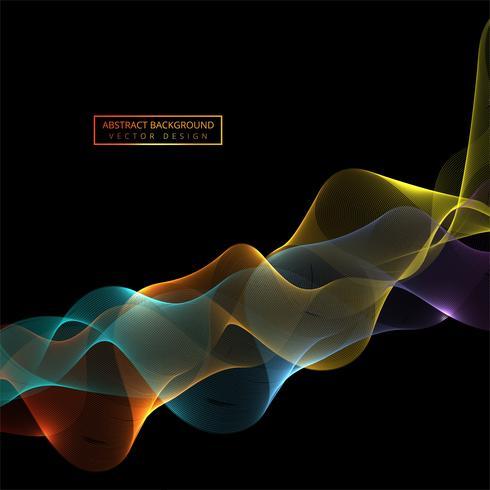 Fließender bunter stilvoller glänzender Wellenhintergrund vektor