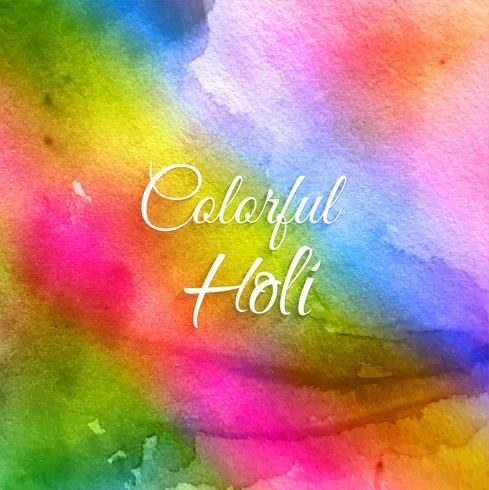 Indischer Festival glücklicher Holi Feierhintergrund vektor