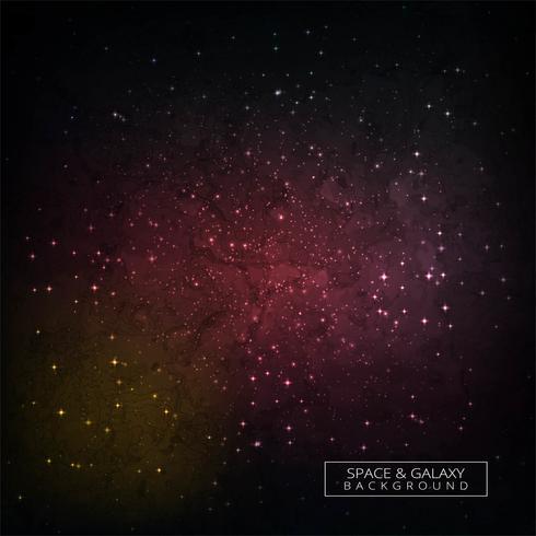 Bunter Weltraumgalaxieuniversum-Konzepthintergrund vektor