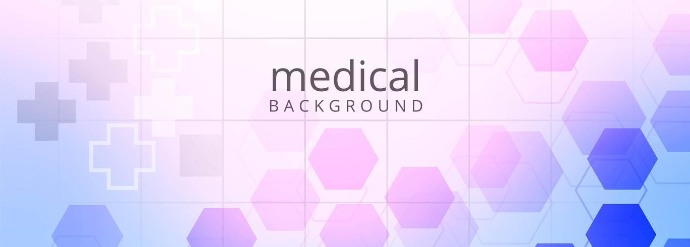 Gesundheitswesen und medizinischer Fahnenschablonenhintergrund vektor