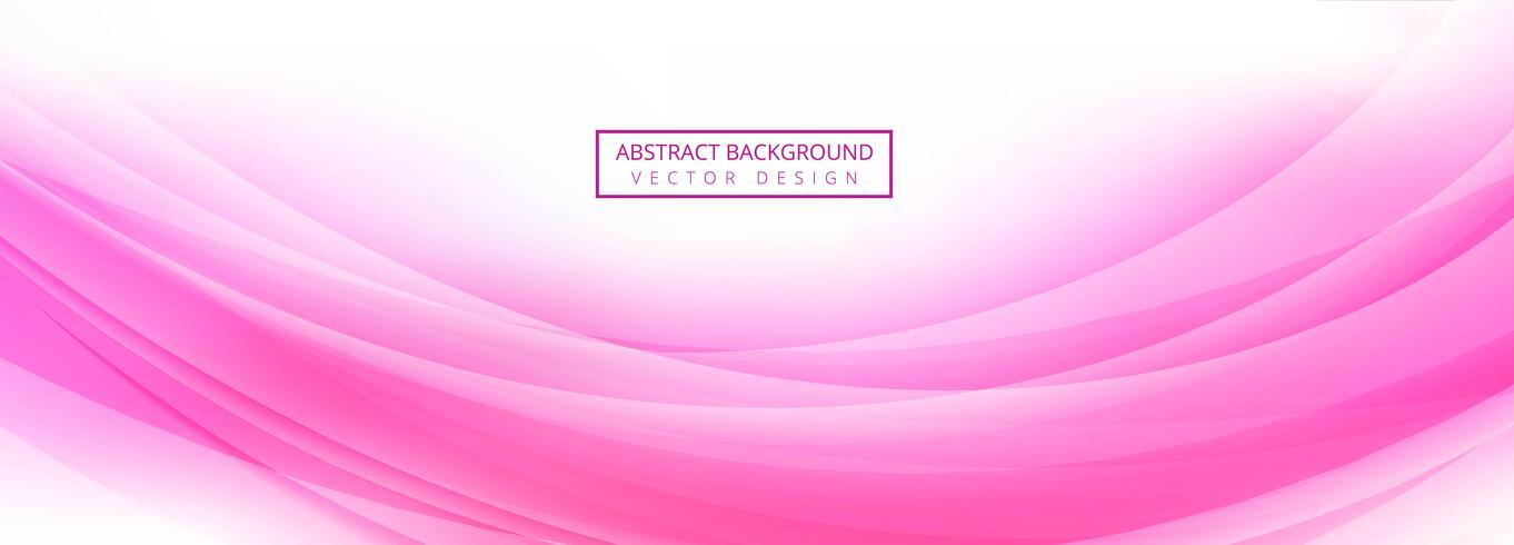 Abstrakter rosa Wellenfahnen-Schablonenvektor vektor