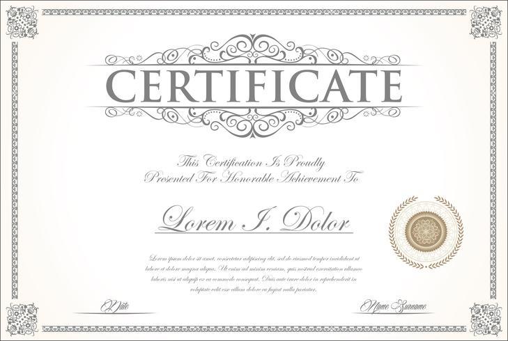 Zertifikat vektor