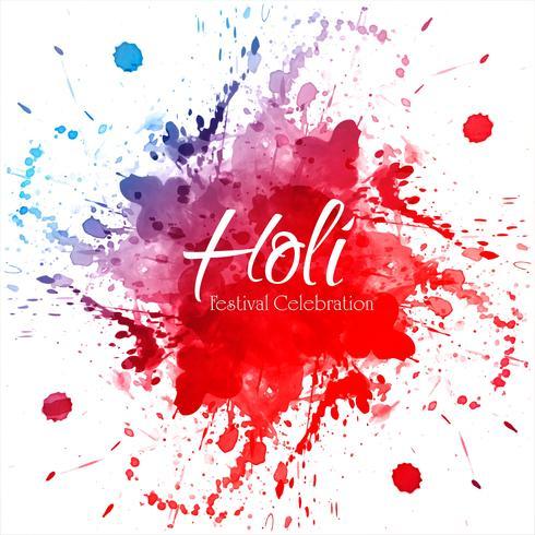 Feiern Sie Festival bunten Holi Hintergrund vektor